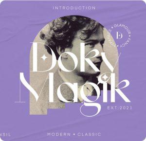 """<span itemprop=""""name"""">Doky Magik – Modern Serif Typeface</span>"""